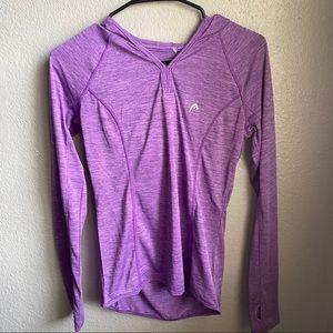 Purple exercise sweater